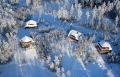 Sun City Latvia Aerial Snow