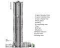 Aqua Tower Building Section