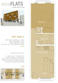 EcoFlats One Bedroom Plan