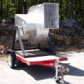 Bladeless Wind Turbine on Trailer