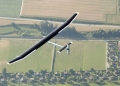 Solar Impulse over Fields