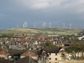 Ardrossan Wind Farm above Town
