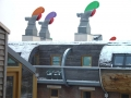 BedZed Colorful Wind Scoops