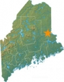 Stetson Wind Farm Location on Maine Map