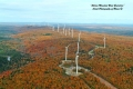 Stetson Wind Farm in Maine in Autumn