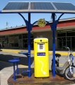 Solar Charging Station with Bike