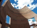 Desert Living Center Rammed Earth Wall