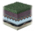 Hydrotech Intensive Vegetated Lawn Roof System