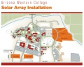 Arizona Western College Solar Array Map