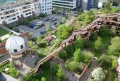 Hundertwasser Vegetated Roof Aerial