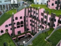 Hundertwasser Green Roof Pink Building