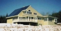 Maine Solar House in Snow