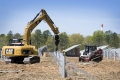 Long Island Solar Farm Construction Equipment