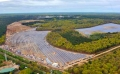 Long Island Solar Farm Aerial Construction