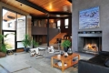 Wyoming Rammed Earth Living Room