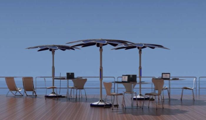 Solaris Sun Shade On Deck